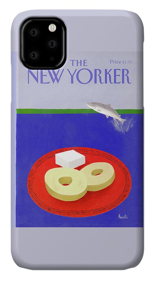 Animals IPhone Case featuring the painting New Yorker April 6th, 1992 by Heidi Goennel