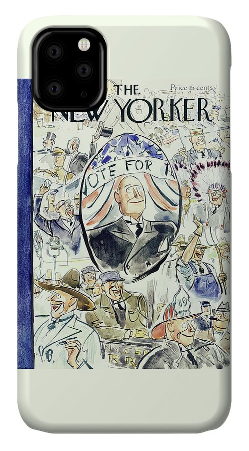 Political IPhone Case featuring the painting New Yorker August 10 1940 by Perry Barlow