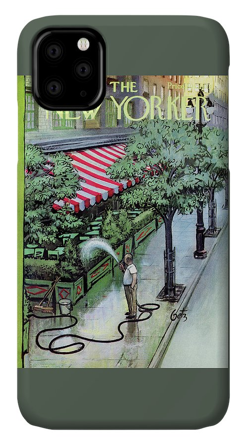 Restaurant IPhone Case featuring the painting New Yorker August 27th, 1955 by Arthur Getz
