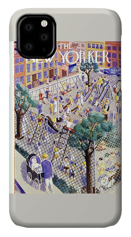Children IPhone Case featuring the painting New Yorker August 31 1940 by Ilonka Karasz