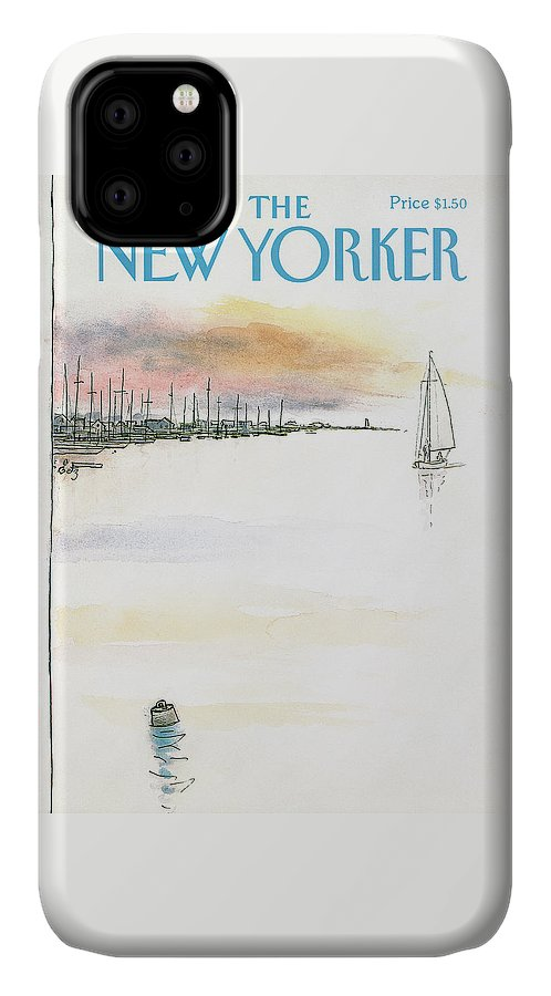 Nature IPhone Case featuring the painting New Yorker August 5th, 1985 by Arthur Getz