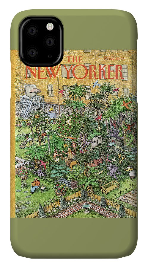 An Urban Garden Of Eden IPhone Case featuring the painting New Yorker August 5th, 1991 by John O'Brien
