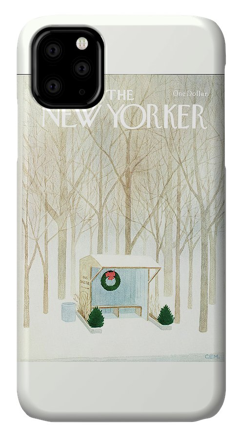 Rural IPhone Case featuring the painting New Yorker December 10th, 1979 by Charles E Martin