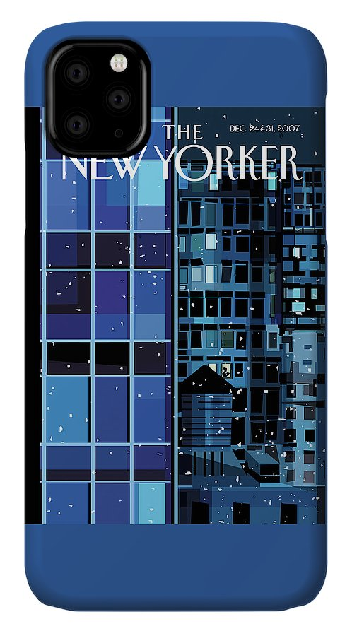 Urban IPhone Case featuring the painting New Yorker December 24th, 2007 by Kim DeMarco