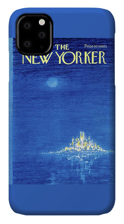 Robert Weber IPhone Case featuring the painting New Yorker December 3rd, 1973 by Robert Weber
