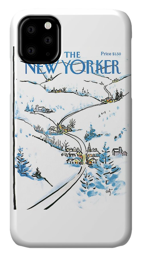 Weather IPhone Case featuring the painting New Yorker December 8th, 1986 by Arthur Getz