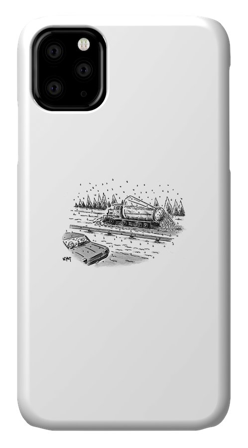 Winter IPhone Case featuring the drawing New Yorker February 22nd, 1999 by Christopher Weyant