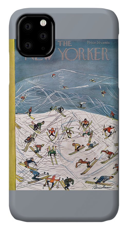 Season IPhone Case featuring the painting New Yorker February 5th, 1955 by Ludwig Bemelmans