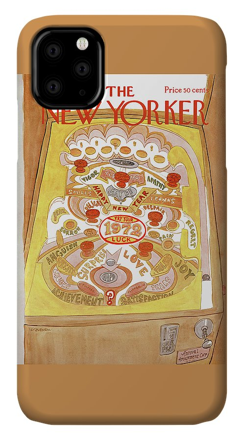 James Stevenson Jst IPhone Case featuring the painting New Yorker January 1st, 1972 by James Stevenson