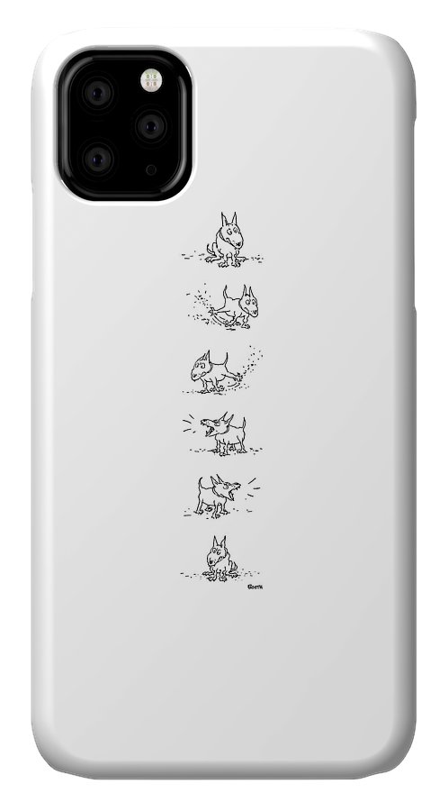 77338 Gbo George Booth (dog Sits IPhone Case featuring the drawing New Yorker July 26th, 1976 by George Booth