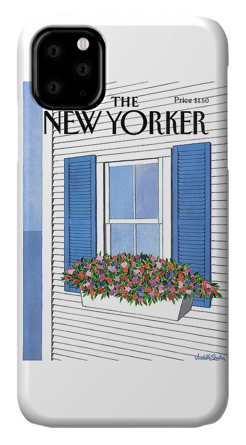 House IPhone Case featuring the painting New Yorker July 28th, 1986 by Judith Shahn