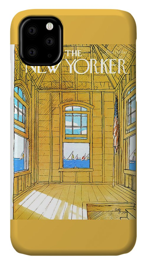 Leisure IPhone Case featuring the painting New Yorker July 2nd, 1979 by Arthur Getz