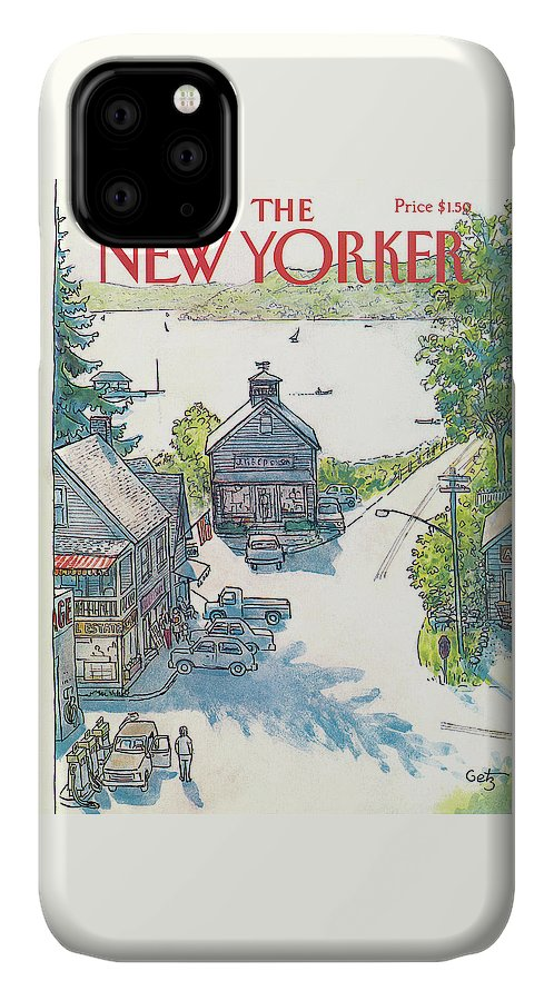 Rural IPhone Case featuring the painting New Yorker July 4th, 1983 by Arthur Getz