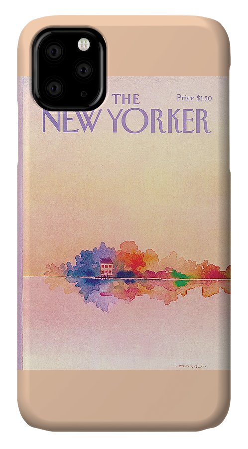 Reflection IPhone Case featuring the painting New Yorker June 13th, 1983 by Susan Davis
