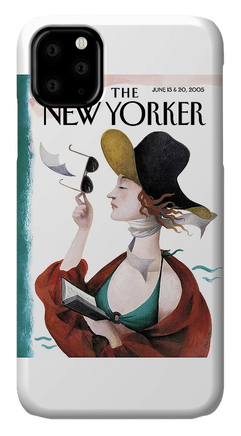 Eustace Tilley IPhone Case featuring the painting Debut On The Beach by Ana Juan