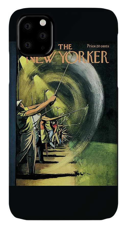 Golf IPhone Case featuring the painting New Yorker June 15th, 1957 by Arthur Getz
