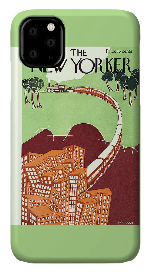 Illustration IPhone Case featuring the painting New Yorker June 19 1926 by Carl Rose