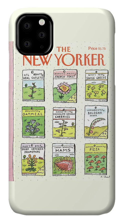 Dining IPhone Case featuring the painting New Yorker June 1st, 1987 by Roz Chast