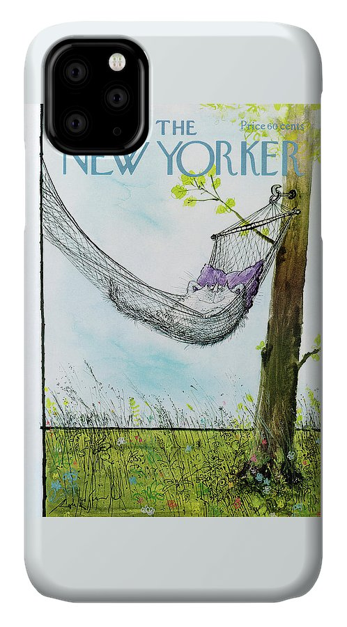 Animals IPhone Case featuring the painting New Yorker June 30th, 1975 by Ronald Searle