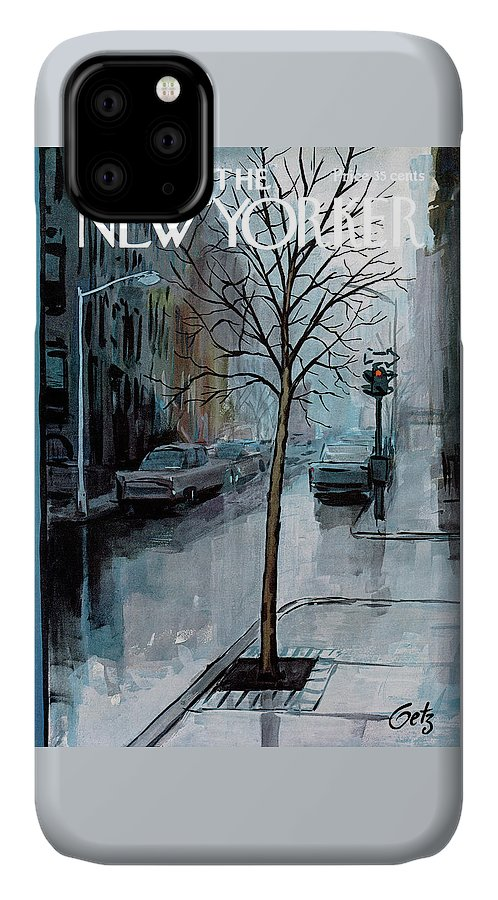 Rain IPhone Case featuring the painting New Yorker March 12th, 1966 by Arthur Getz
