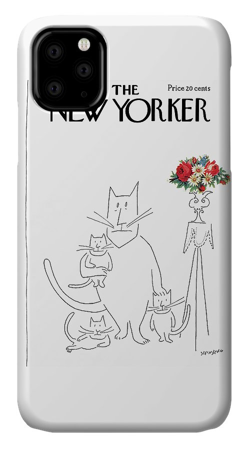Saul Steinberg 49333 Steinbergattny IPhone Case featuring the painting New Yorker March 20th, 1954 by Saul Steinberg