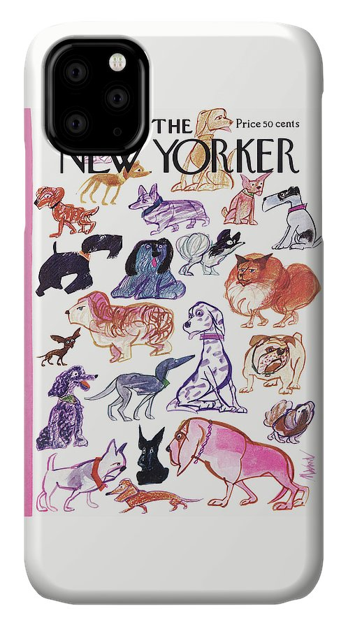 Animals IPhone Case featuring the painting New Yorker March 21st, 1970 by Kenneth Mahood
