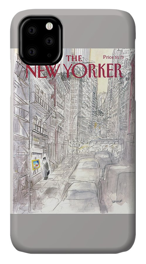 New York City IPhone Case featuring the painting New Yorker March 21st, 1988 by Jean-Jacques Sempe