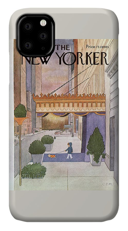 Upper East Side IPhone Case featuring the painting New Yorker March 8th, 1976 by Charles E Martin
