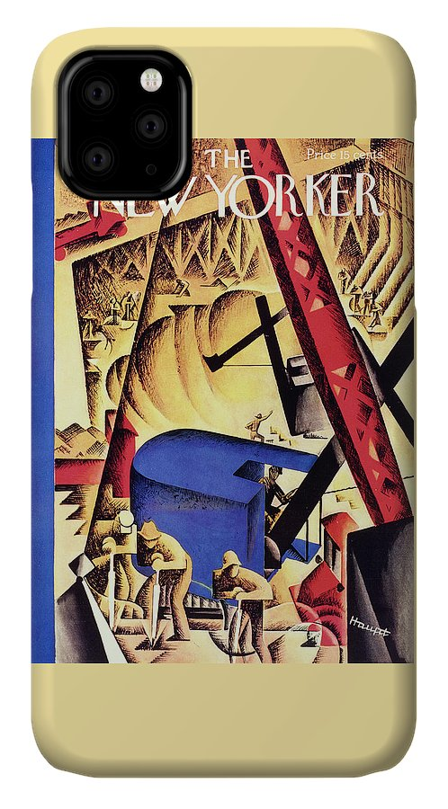 Illustration IPhone Case featuring the painting New Yorker May 2 1931 by Theodore G Haupt