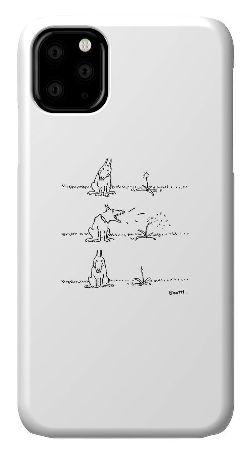 No Caption IPhone Case featuring the drawing New Yorker May 22nd, 1978 by George Booth