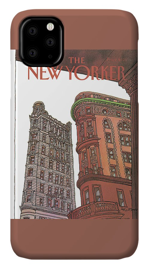 Business Offices IPhone Case featuring the painting New Yorker November 9th, 1981 by Roxie Munro