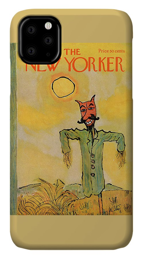 William Steig Wst IPhone Case featuring the painting New Yorker October 31st, 1970 by William Steig