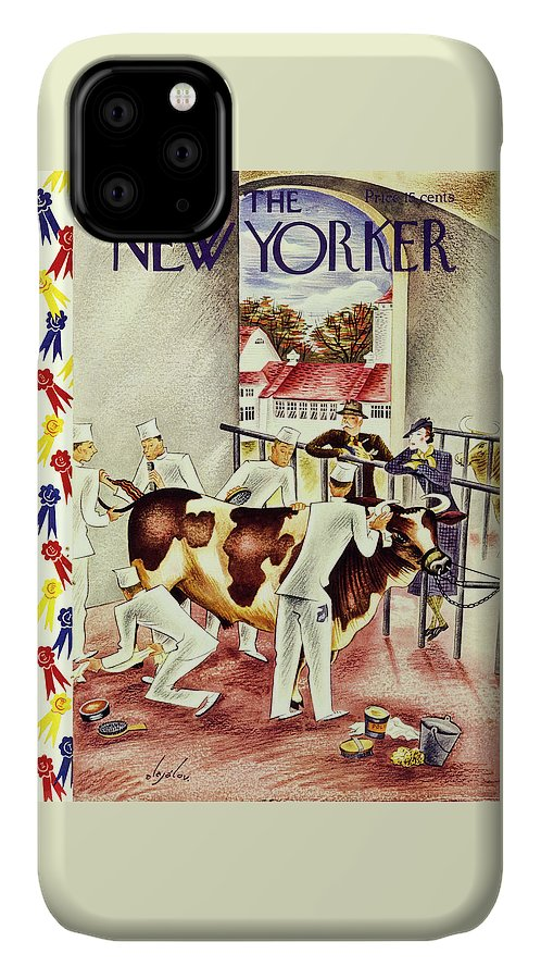 Animal IPhone Case featuring the painting New Yorker October 5 1935 by Constantin Alajalov