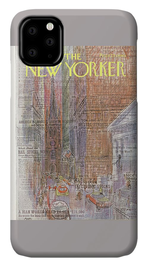 Urban IPhone Case featuring the painting New Yorker September 11th, 1965 by Charles E Martin