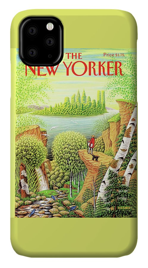 Animal IPhone Case featuring the painting New Yorker September 17, 1990 by Bob Knox