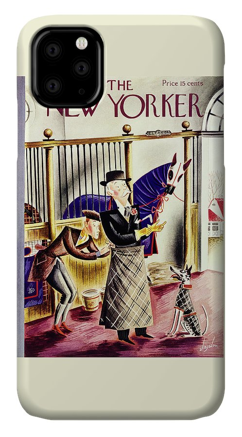 Animal IPhone Case featuring the painting New Yorker September 26 1936 by Constantin Alajalov