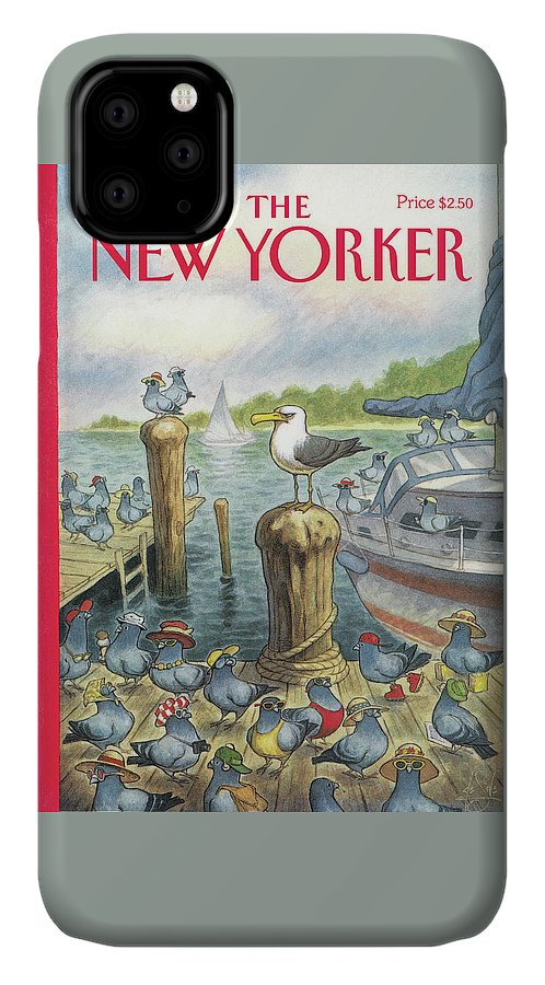 Labor Day IPhone Case featuring the painting New Yorker September 5th, 1994 by Peter de Seve