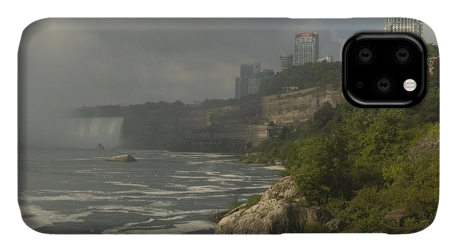 Canada IPhone Case featuring the photograph Niagra Falls And Ontario Skyline 3 by Richard Patrick