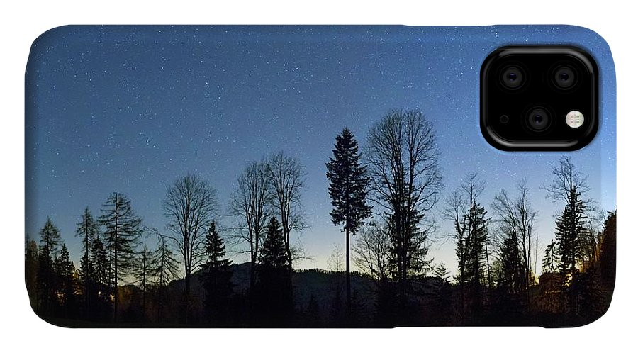 Beehive IPhone Case featuring the photograph Night Panorama With Stars by Dr Juerg Alean