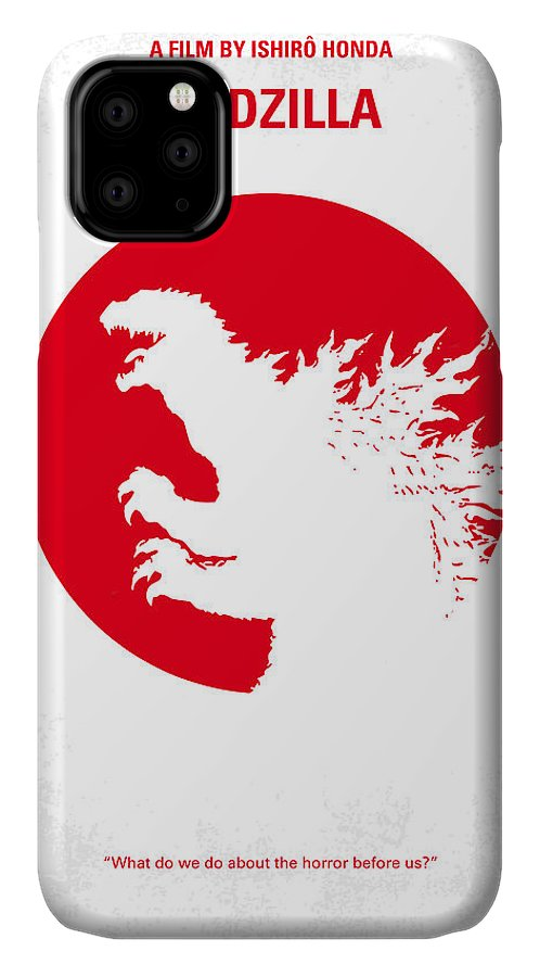 Godzilla IPhone 11 Case featuring the digital art No029-2 My Godzilla 1954 Minimal Movie Poster.jpg by Chungkong Art
