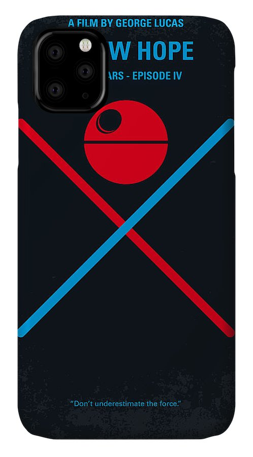 Star IPhone Case featuring the digital art No154 My Star Wars Episode Iv A New Hope Minimal Movie Poster by Chungkong Art