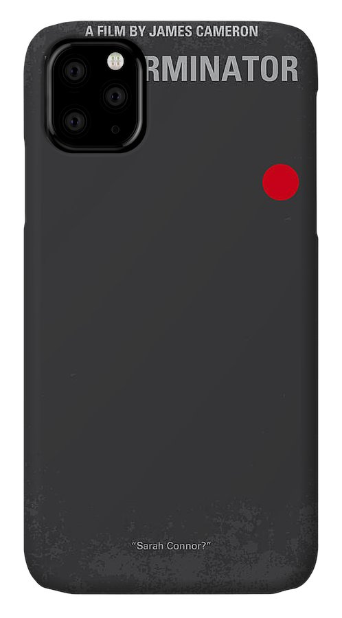 Terminator IPhone Case featuring the digital art No199 My Terminator Minimal Movie Poster by Chungkong Art