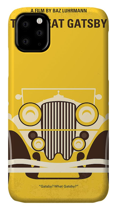 The IPhone Case featuring the digital art No206 My The Great Gatsby minimal movie poster by Chungkong Art