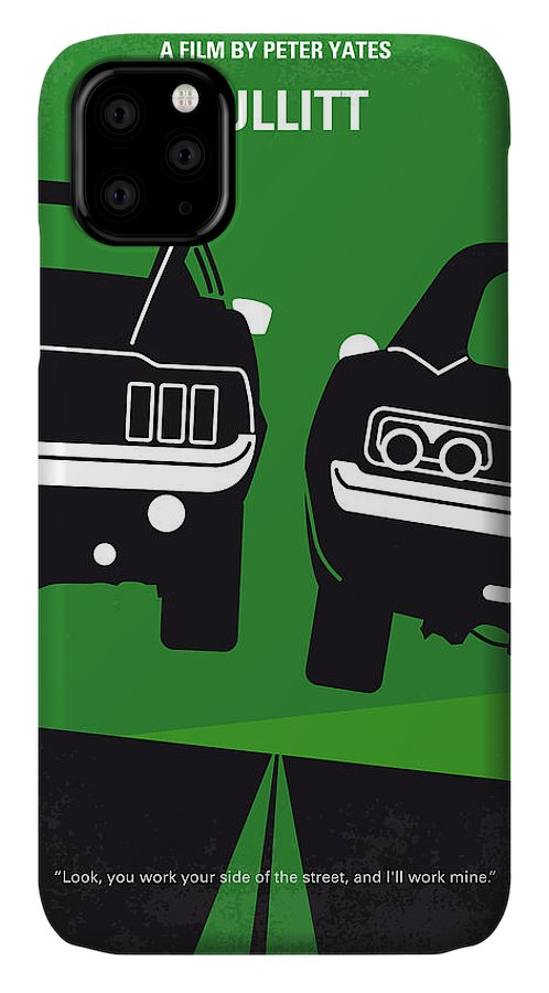 Frank IPhone Case featuring the digital art No214 My BULLITT minimal movie poster by Chungkong Art