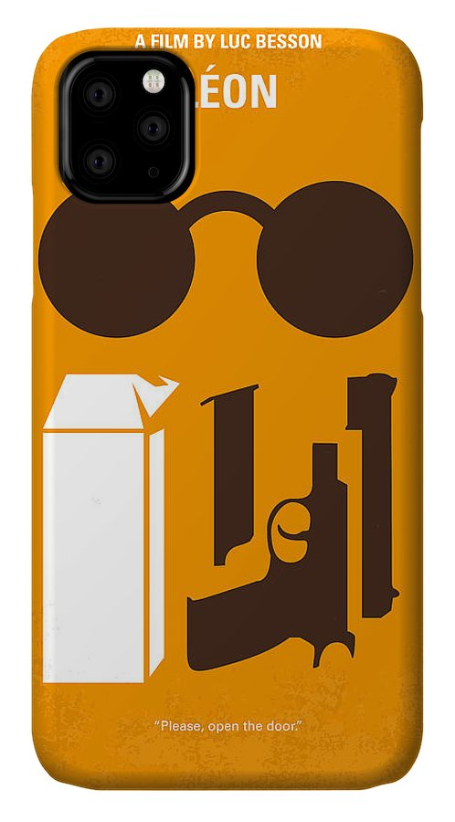 Leon IPhone Case featuring the digital art No239 My LEON minimal movie poster by Chungkong Art