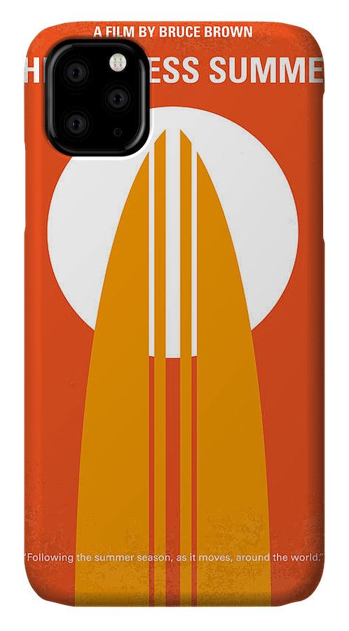 Endless IPhone Case featuring the digital art No274 My The Endless Summer minimal movie poster by Chungkong Art