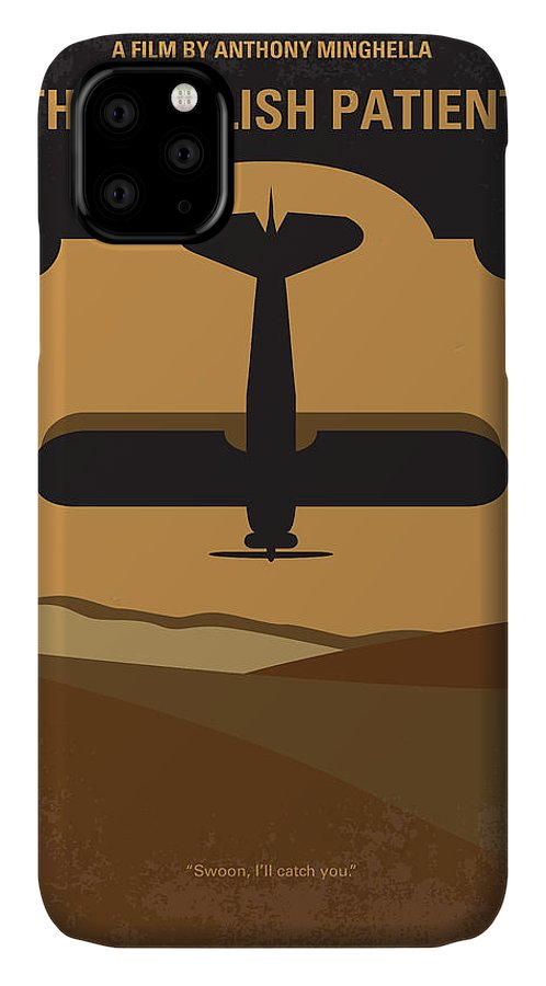 English IPhone Case featuring the digital art No361 My The English Patient Minimal Movie Poster by Chungkong Art