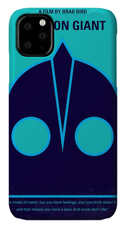The IPhone 11 Case featuring the digital art No406 My The Iron Giant Minimal Movie Poster by Chungkong Art