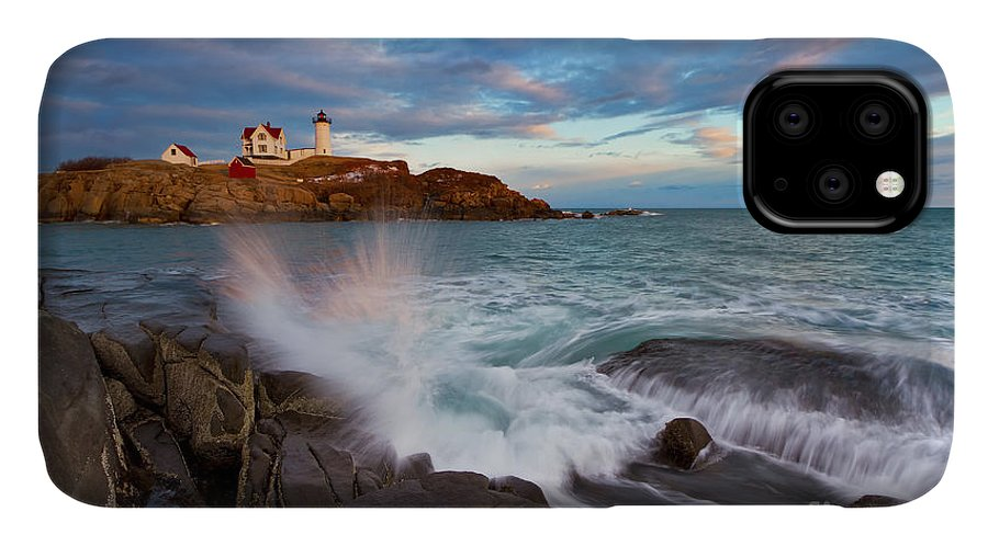 The Rocks by the Lighthouse iPhone 11 case
