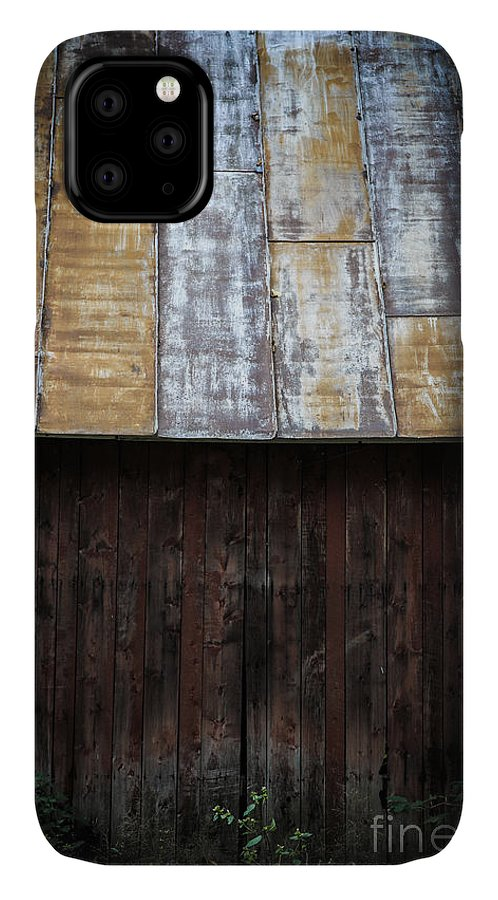 Vermont IPhone Case featuring the photograph Old Rusty Tin Roof Barn by Edward Fielding